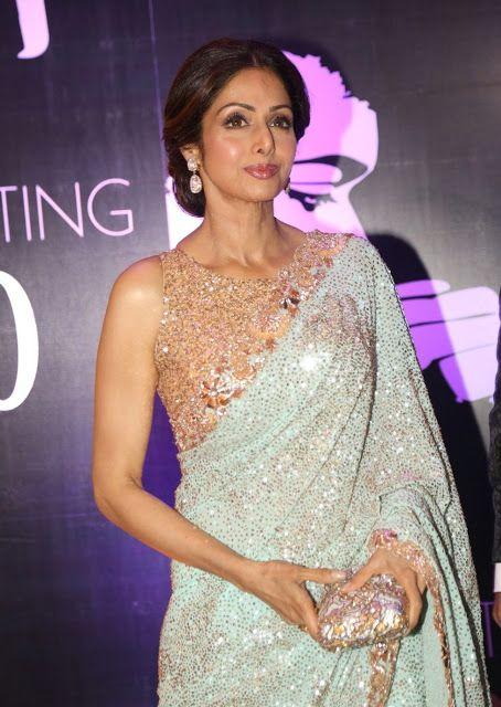 Sridevi Kapoor In Sequins Saree Saree Saree Indian