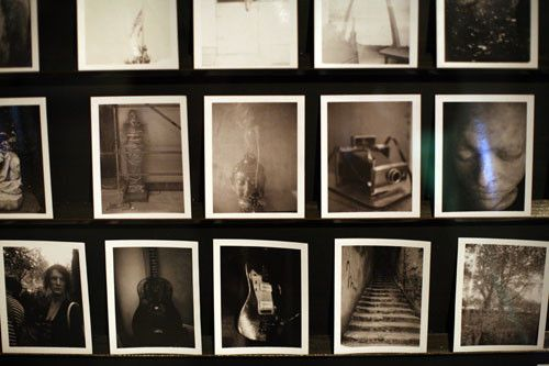 Polaroid photos taken by Patti Smith over the course of her forty-year career as a rock 'n roll punk poet visionary