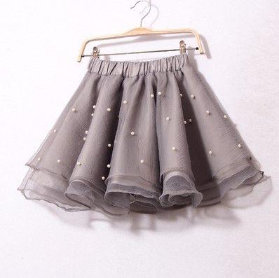 5b6dc7b00 2015 nuevas mujeres del verano de dulce falda elástico de la cintura ...