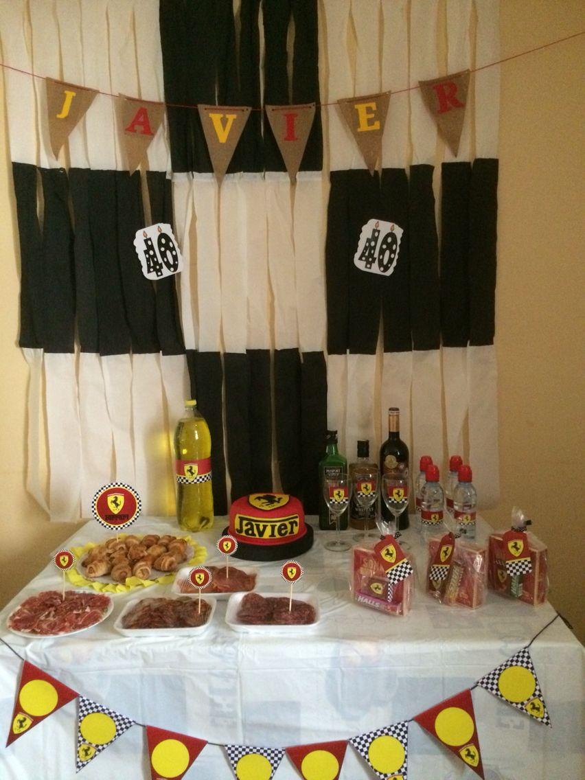Mesa decorada cumplea os 40 cumple javier 40 pinterest for Decoracion 40