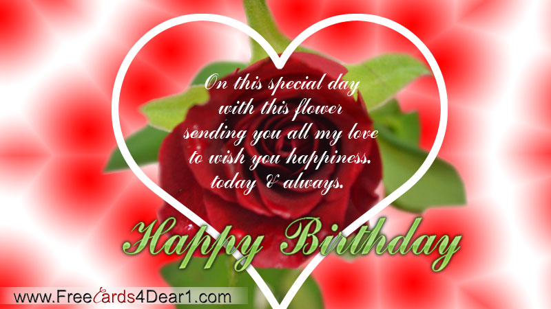 Happy Birthday Flowers – Birthday Card with Love