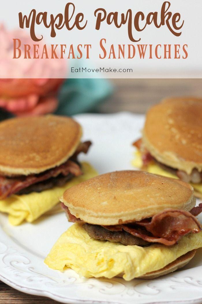 Maple Pancake Breakfast Sandwiches Put a Twist on Breakfast Night