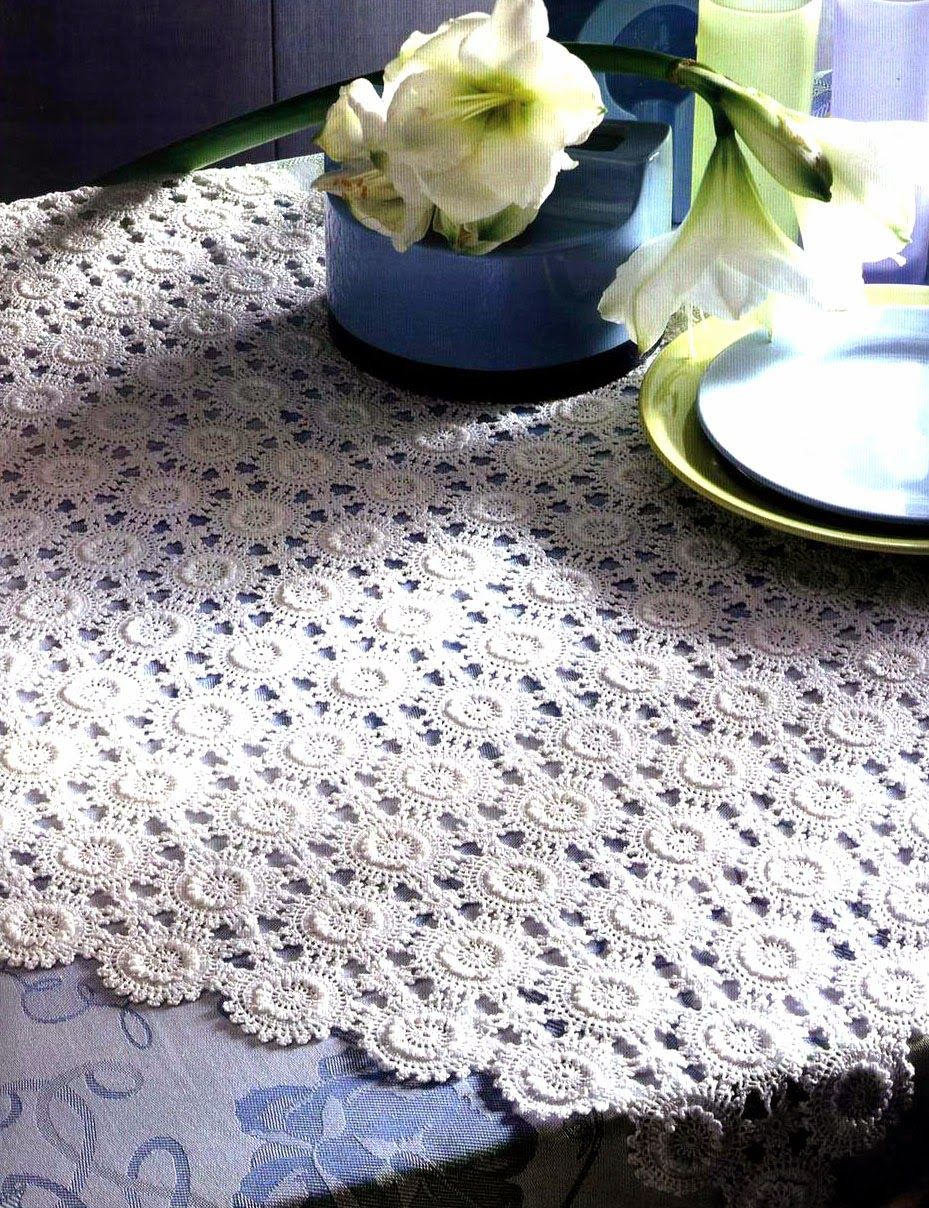 Ergahandmade Crochet Tablecloth Diagrams Patterns Doily Diagram Patrones 2 Pin