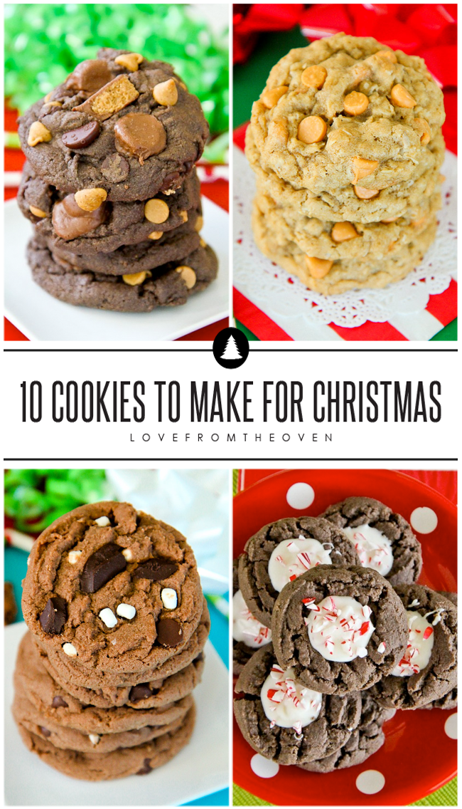 These easy Christmas Cookie recipes are great for holiday baking!  I love that these options are all great for transporting, perfect for holiday platters and cookie trays!