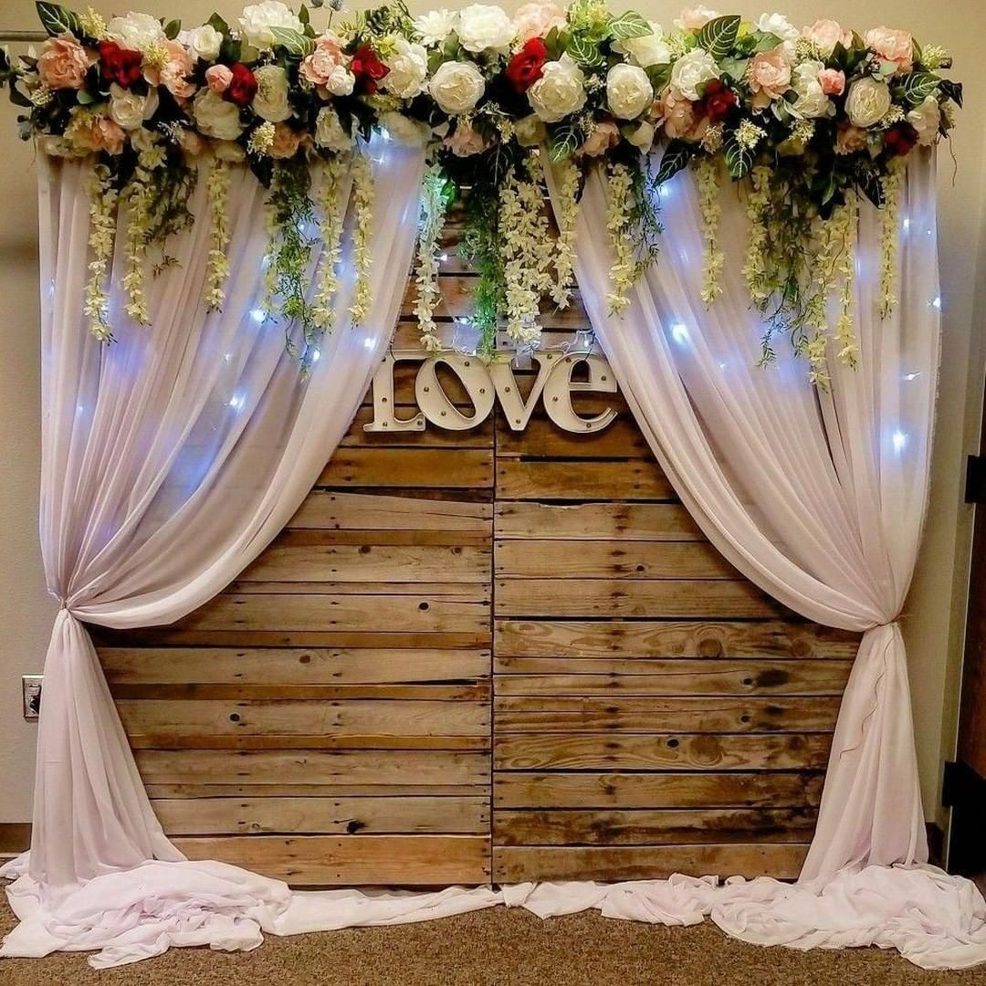 A Must Try Rustic Wedding Pins So Please Score These Simple Stunning We Wedding Background Decoration Wedding Backdrop Decorations Vintage Wedding Decorations