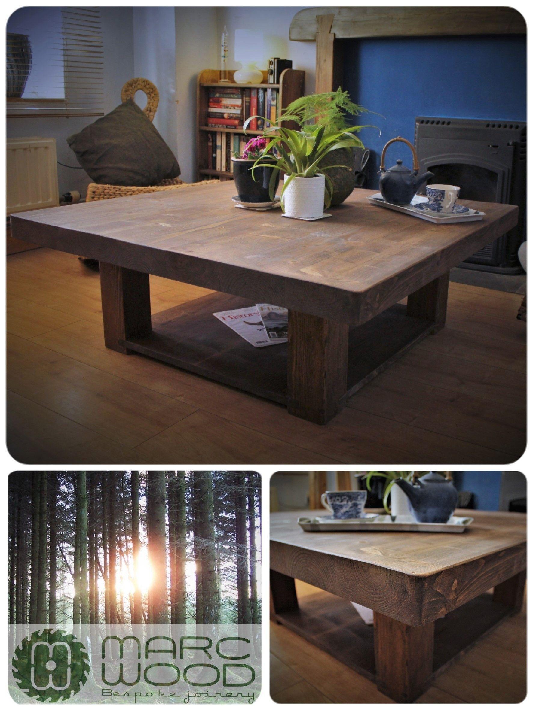 Handmade 100 X 100 Cm Square Slab Top Coffee Table In Reclaimed Wood Our Custom 1000 Coffee Table Farmhouse Square Wooden Coffee Table Coffee Table