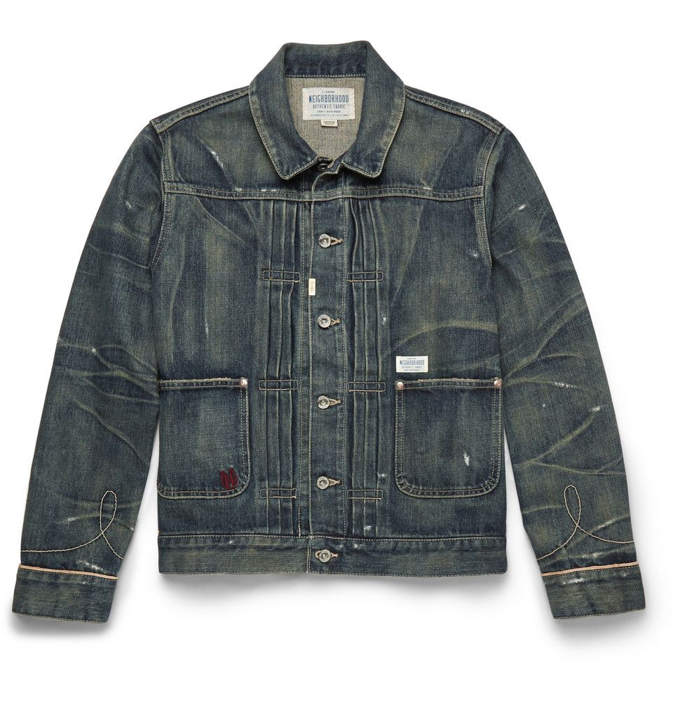 Neighborhood Japan Rip Repair Distressed denim jacket. Beautiful ...