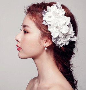 ウエディングアクセサリーヘッドドレス髪飾りウェディング結婚式披露宴花嫁造花ブライダルアクセサリーパーティーウェディング