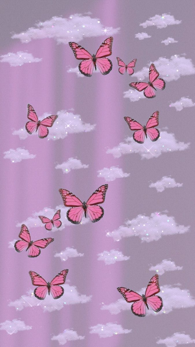 Pin On Wallpapers Butterfly Wallpaper Iphone Iphone Wallpaper Glitter Pink Wallpaper Iphone