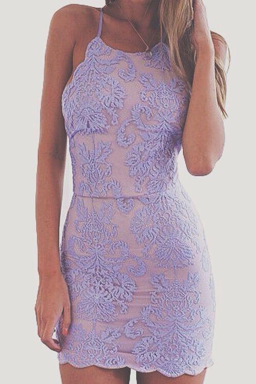 71333a0076d4 Purple Plain Embroidery Condole Belt Tie Back Lace Mini Dress