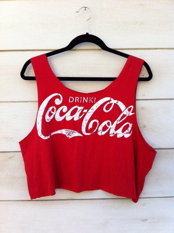 Vintage Coca Cola Cut Off Tank i love @Gerri Talevich Creep