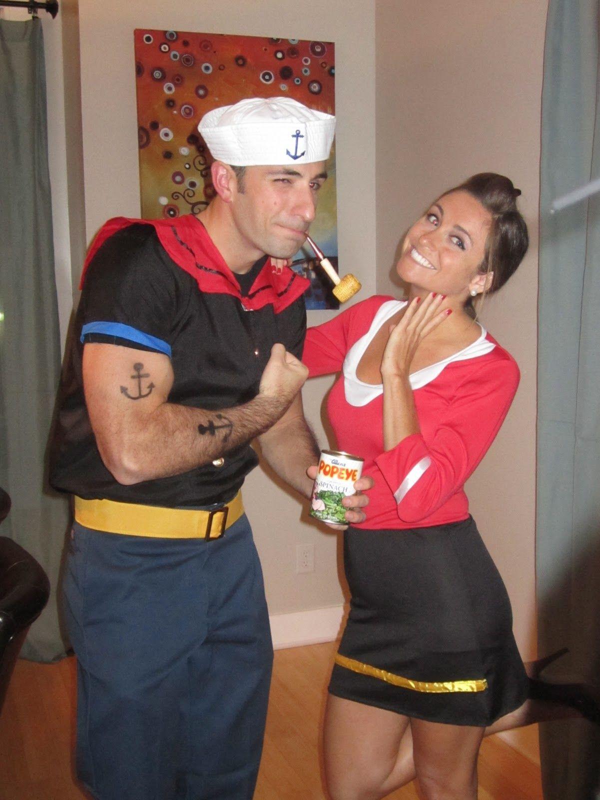 Popeye olive oyl costumes pinterest popeye olive oyl genius diy couples costumes for halloween diy halloween do it yourself halloween costumes diy halloween ideas diy halloween costumes kids halloween costumes solutioingenieria Images