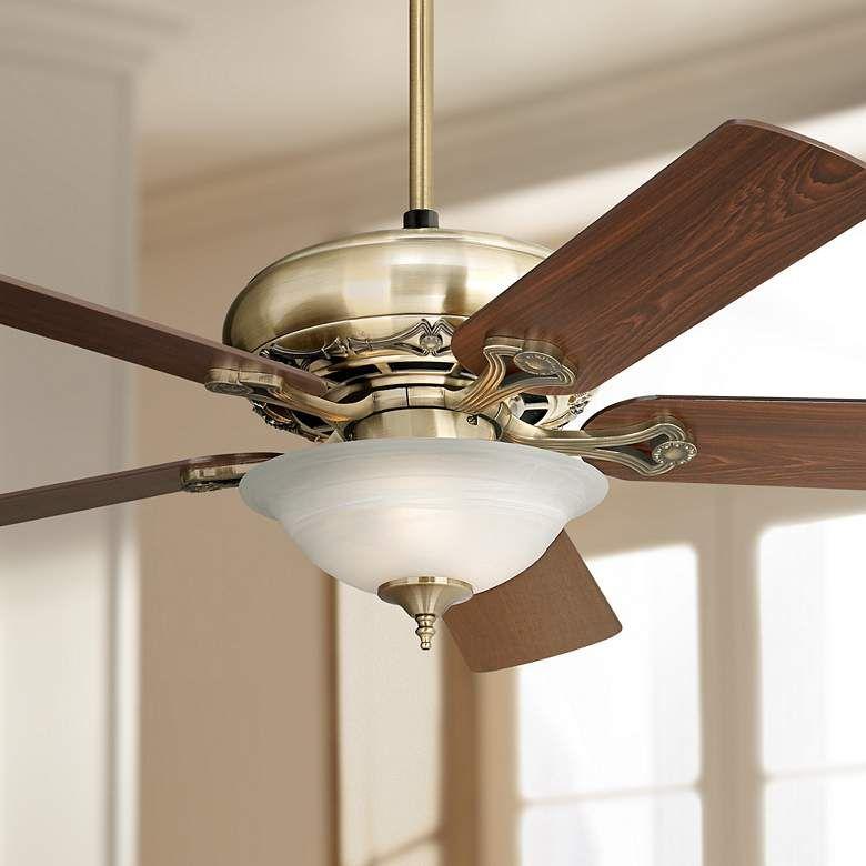 52 Casa Trilogy Brass And Alabaster Glass Led Ceiling Fan 71r28 Lamps Plus Brass Ceiling Fan Led Ceiling Fan Ceiling Fan