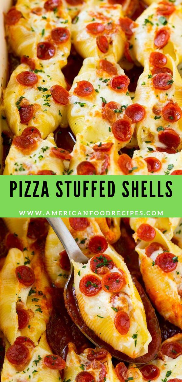 PIZZA STUFFED SHELLS American Food Recipes Recipes