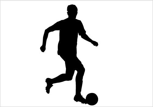 Football Player Silhouette Vector Download Silhouette Graphics