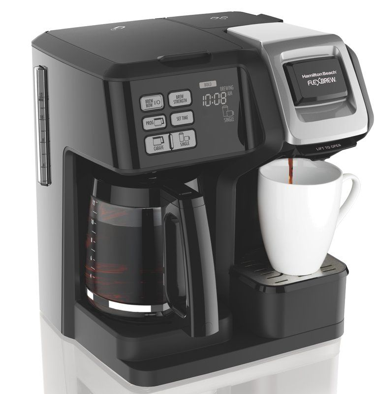 Hamilton Beach 12 Cup Flexbrew 2 Way Coffee Maker In 2020 Hamilton Beach Coffee Maker Single Coffee Maker Dual Coffee Maker