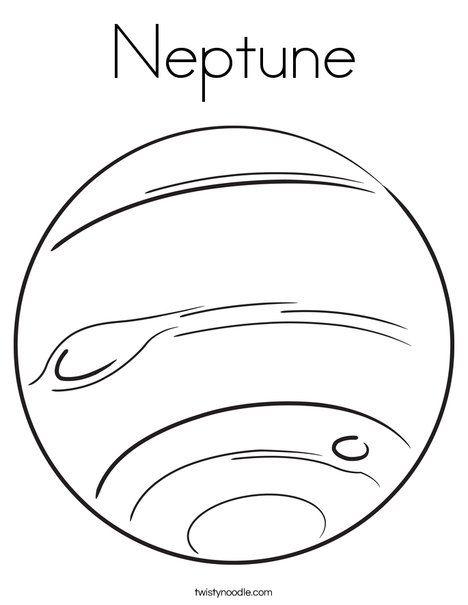 Neptune Coloring Page Twistynoodle Com Planet Coloring Pages