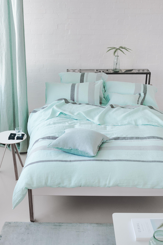 Sentier Aqua Bed Linen