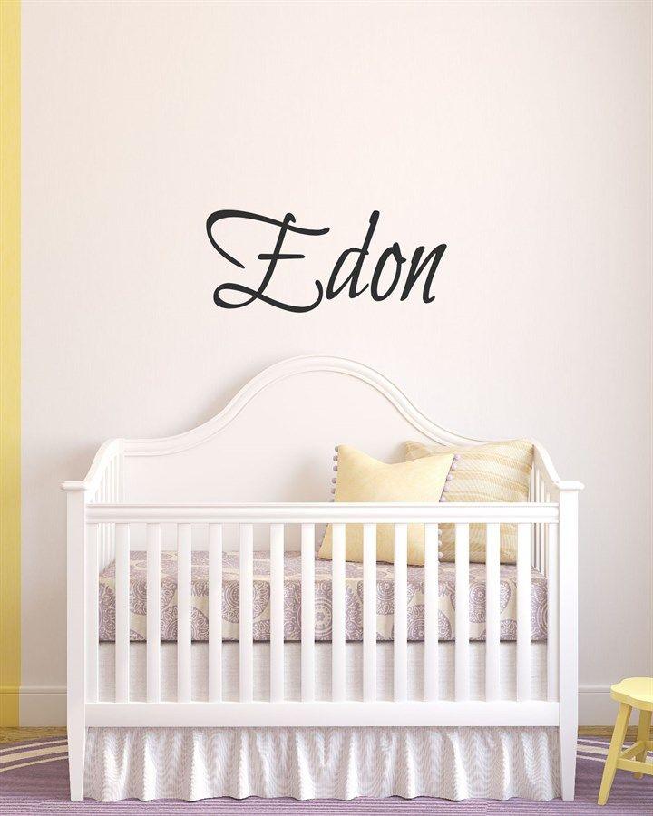 Custom name vinyl decal home bedroom wall art etsy