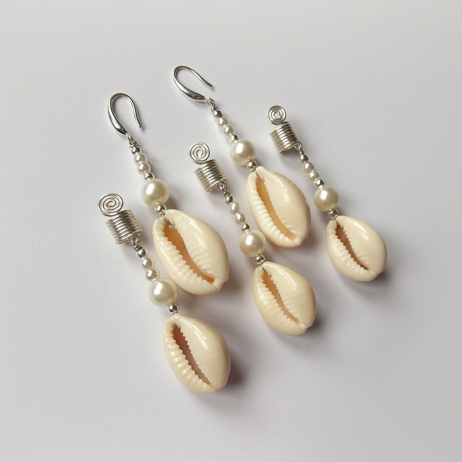 earrings wedding handmade designed shell artisan beach pink elegant and pearl jewelry