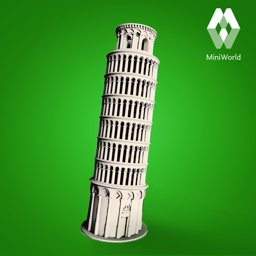 Leaning Tower Of Pisa 3D Printing 68145 (con Imágenes