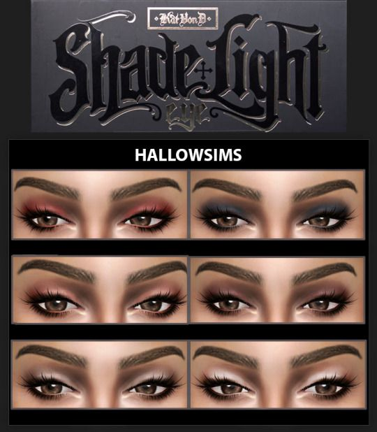 Sims 4 CC's - The Best: Eye Shadow by HallowSims