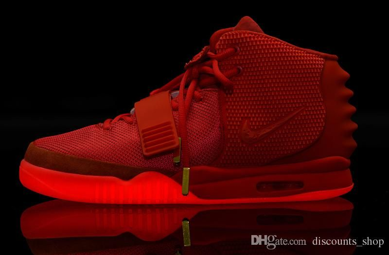 Nike Mens And Women Air Yeezy 2 Red October Basketball Shoes
