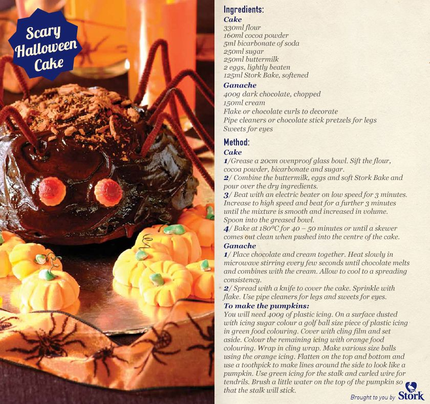 scary halloween cake recipe - Scary Halloween Cake Recipes