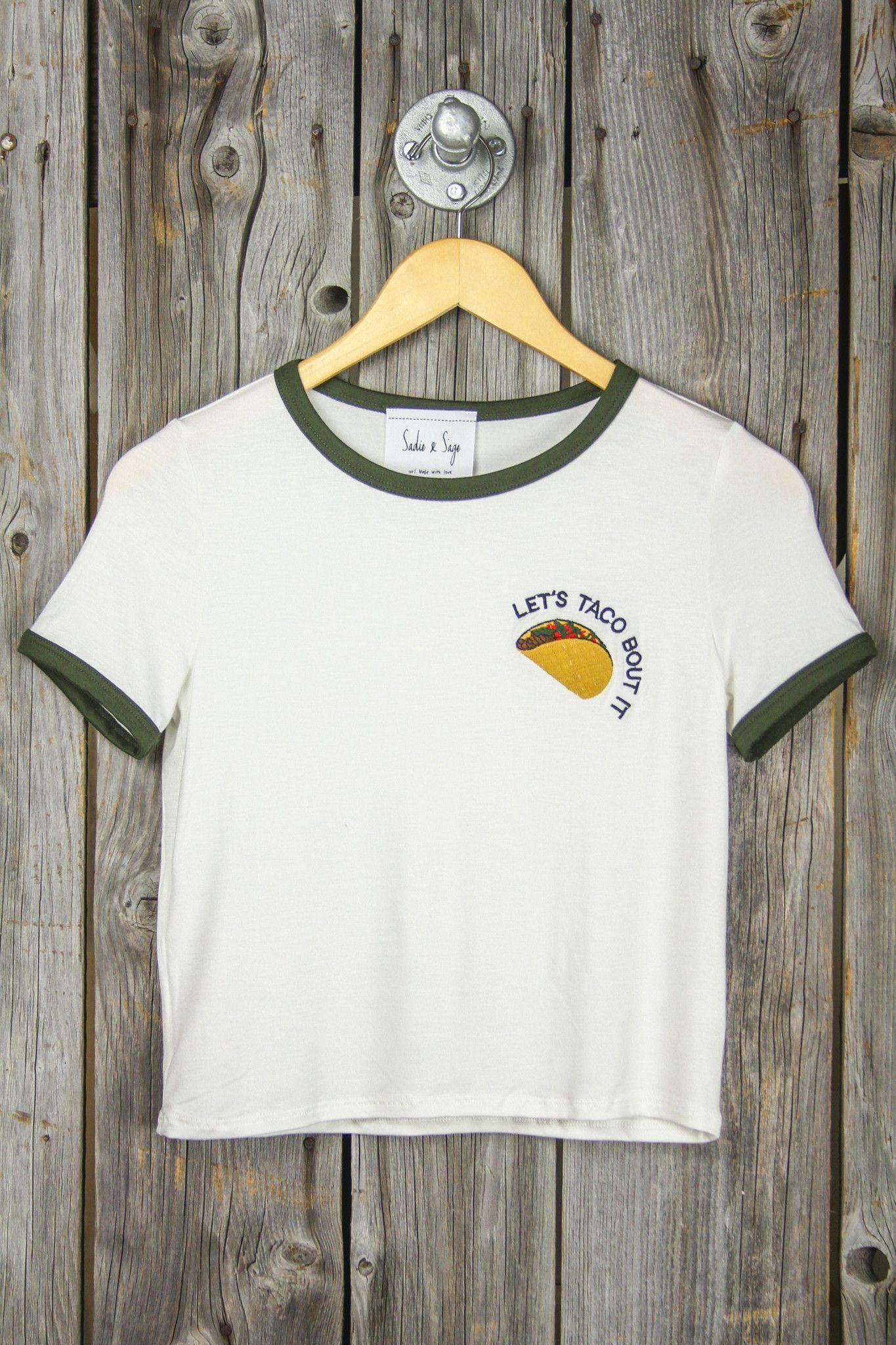 Lets Taco Bout It Ringer Tee Sugarcloth Tees Shirts Heart Printed Circuit Board Tshirts Unisex Triblend Tshirt