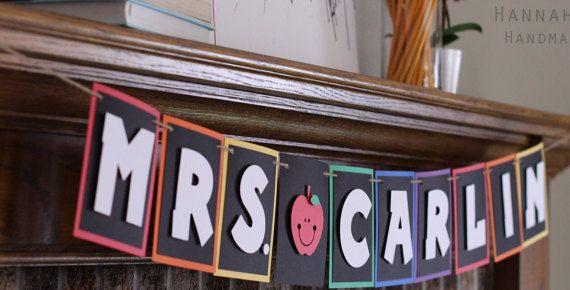 Teacher Banner by HannahbHandmade on Etsy