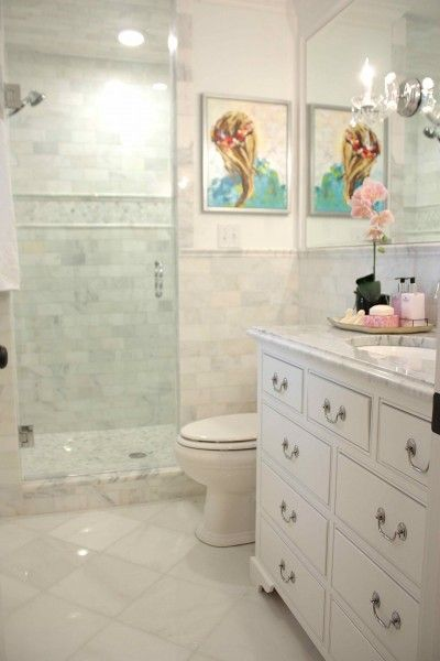 Colors Light And Airy Tile Marble Counter Vanity