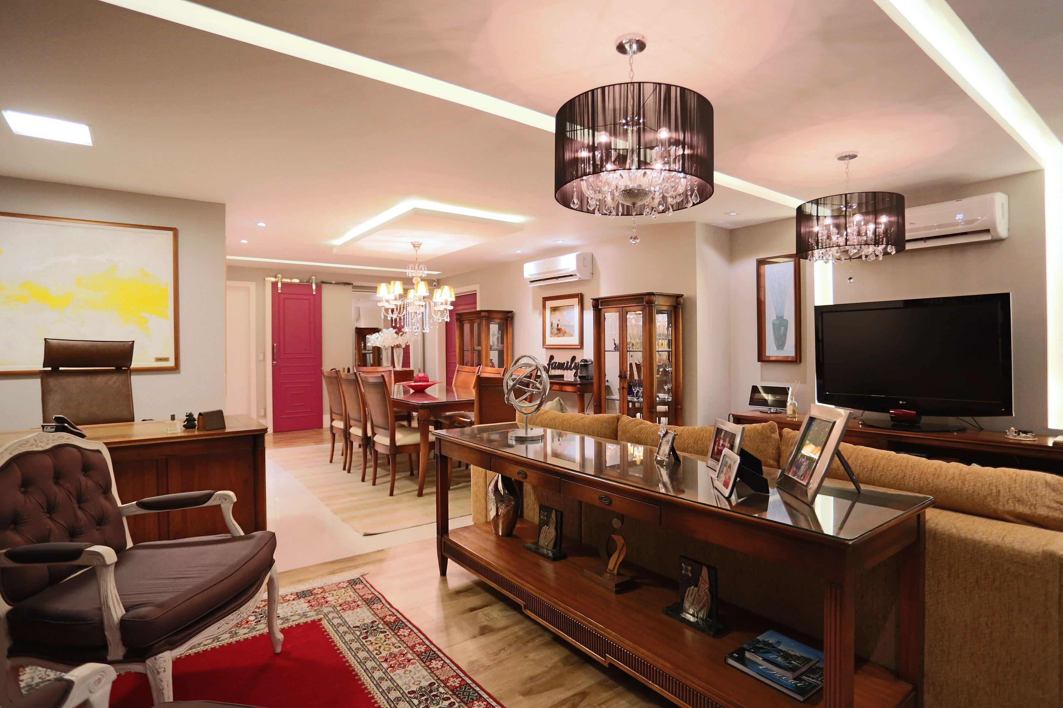 Apartamento Cl Ssico E Aconchegante Ambiente Elegante E Alegre  -> Sala De Tv E Biblioteca