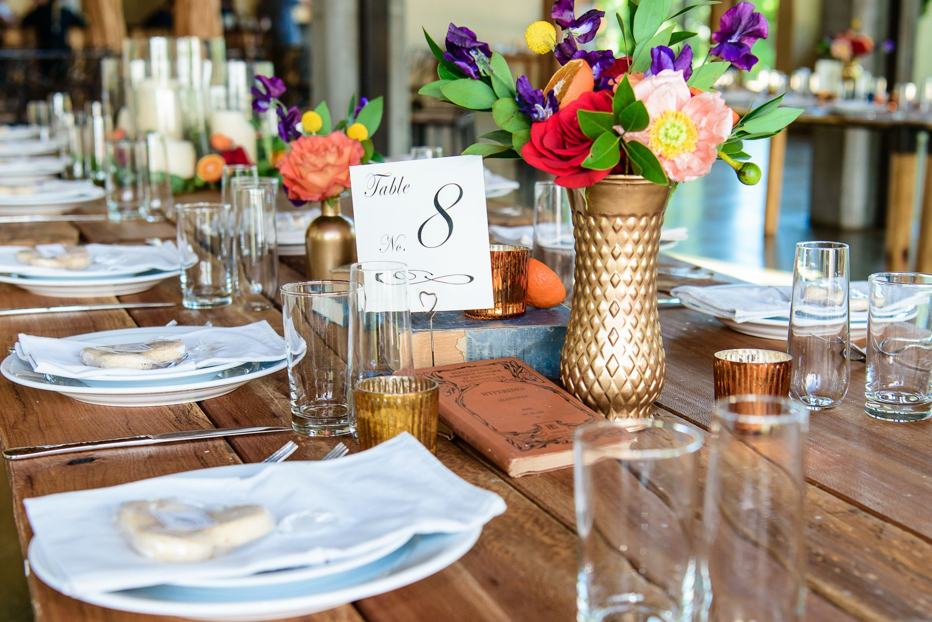 Austin Wedding Photographers Table Setting Stems Floral Design