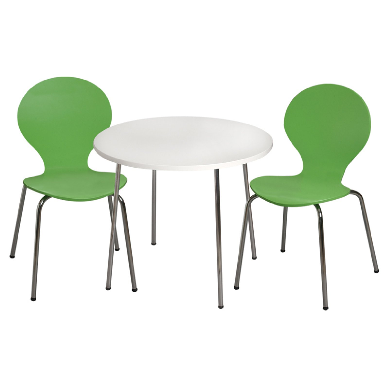 Modern Childrens Table And 2 Chair Set With Chrome Legs Green Kids Table And Chairs Kids Table Chair Set Table And Chairs