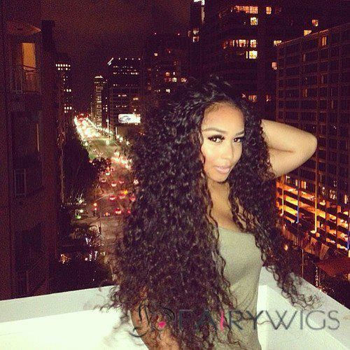 26 Inch Curly Black Full Lace Human Hair Curly Hair Styles