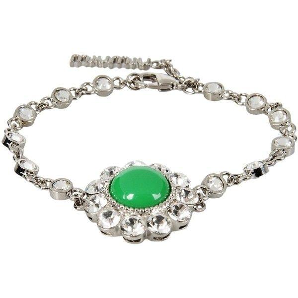 Miu Miu Bracelet (625 BRL) ❤ liked on Polyvore featuring jewelry, bracelets, green, rhinestone bangles, miu miu jewelry, rhinestone jewelry, green jewelry and miu miu