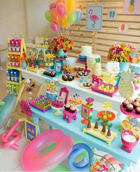 Pin de katherine en fiesta dharma anniversaire y n on for Ideas para cumpleanos en piscina