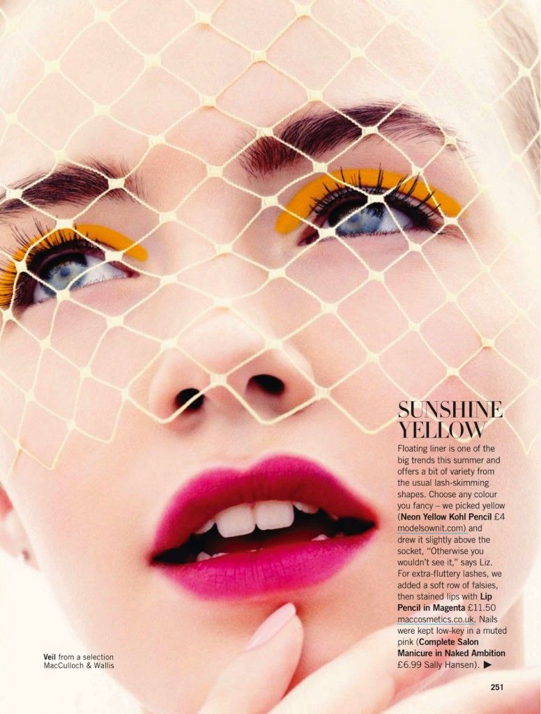 Beauty Spread by Simon Emmett for Glamour UK May 2013
