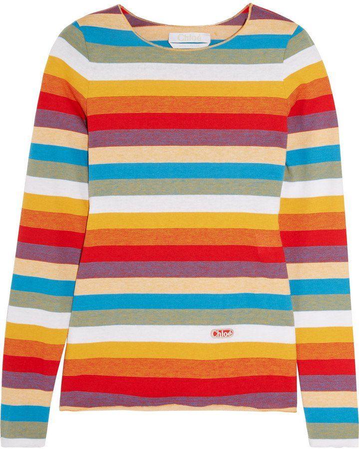 e683540bbc Chloé Striped Cotton-jersey Top   POPSUGAR UK   Fashion, Travel ...