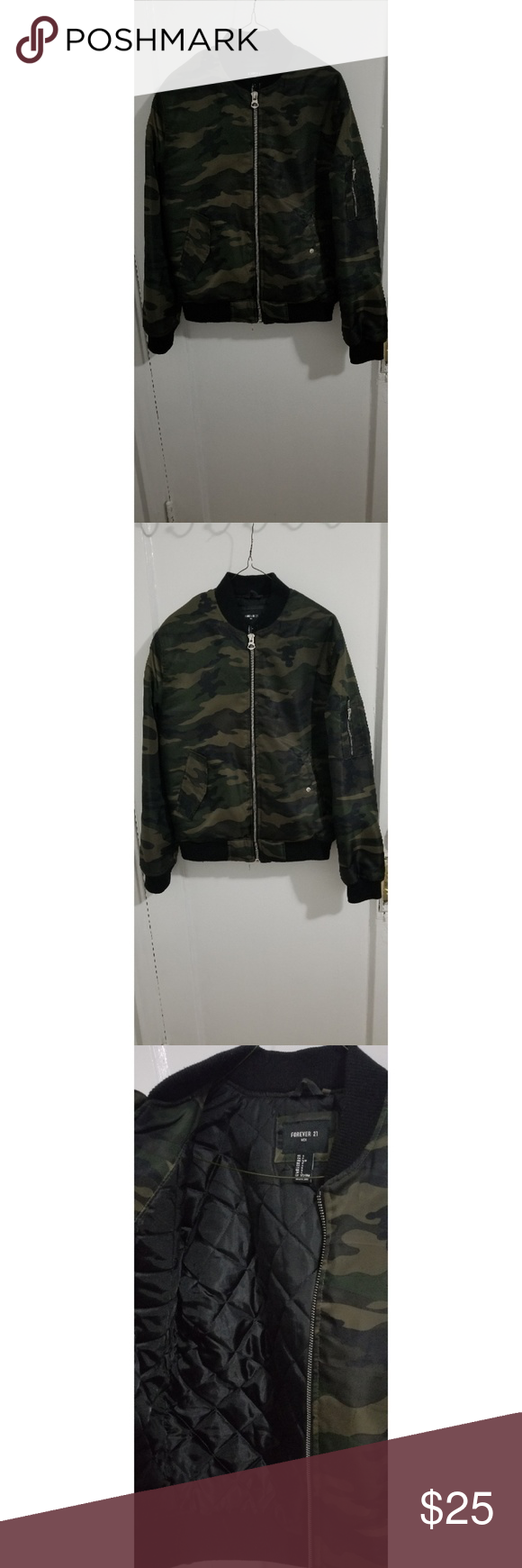 74068155407 Forever21 Army Fatigue bomber jacket Forever21 Army Fatigue bomber jacket
