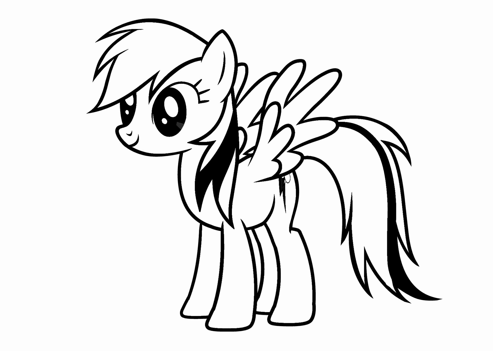 Rainbow Dash Coloring Page Awesome My Little Pony Rainbow Dash Coloring Pages For Kids Printable Free Color My Little Pony Coloring My Little Pony Cartoon Pony
