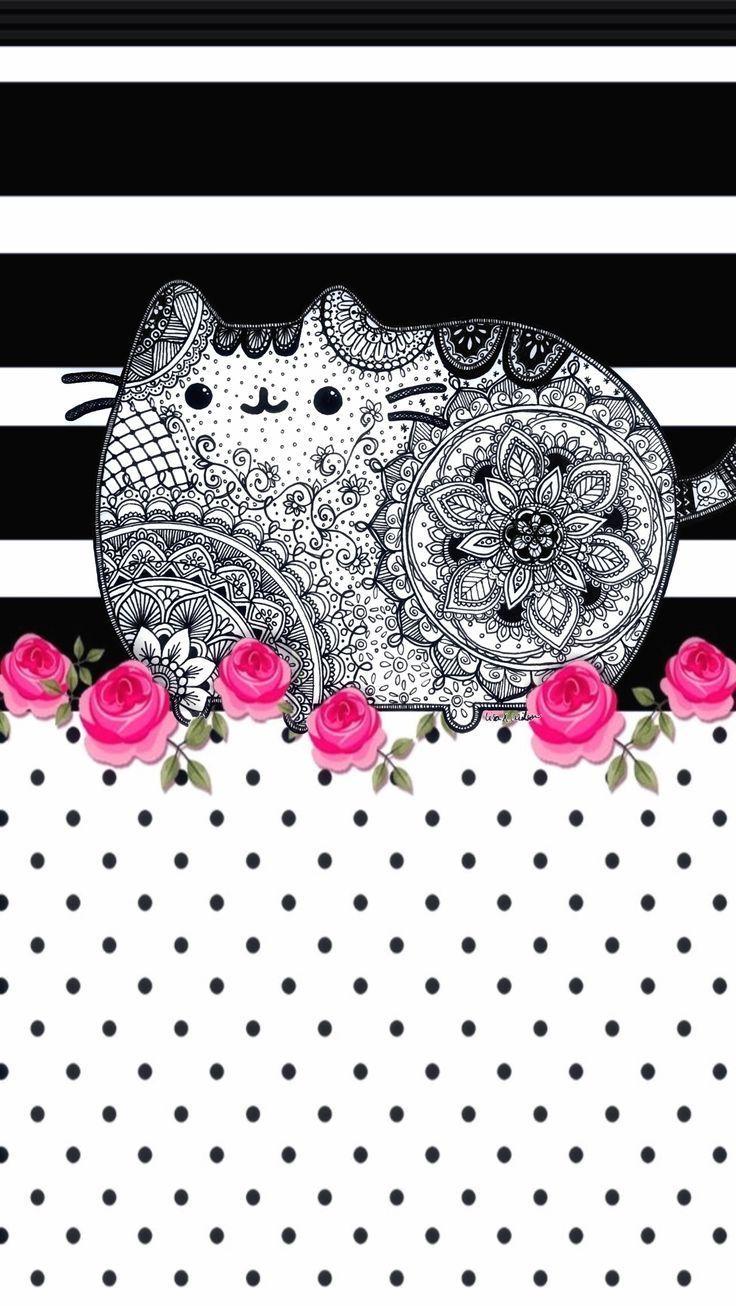 Mandala de pusheen | Se puede imprimir | Dibujos para colorear ...