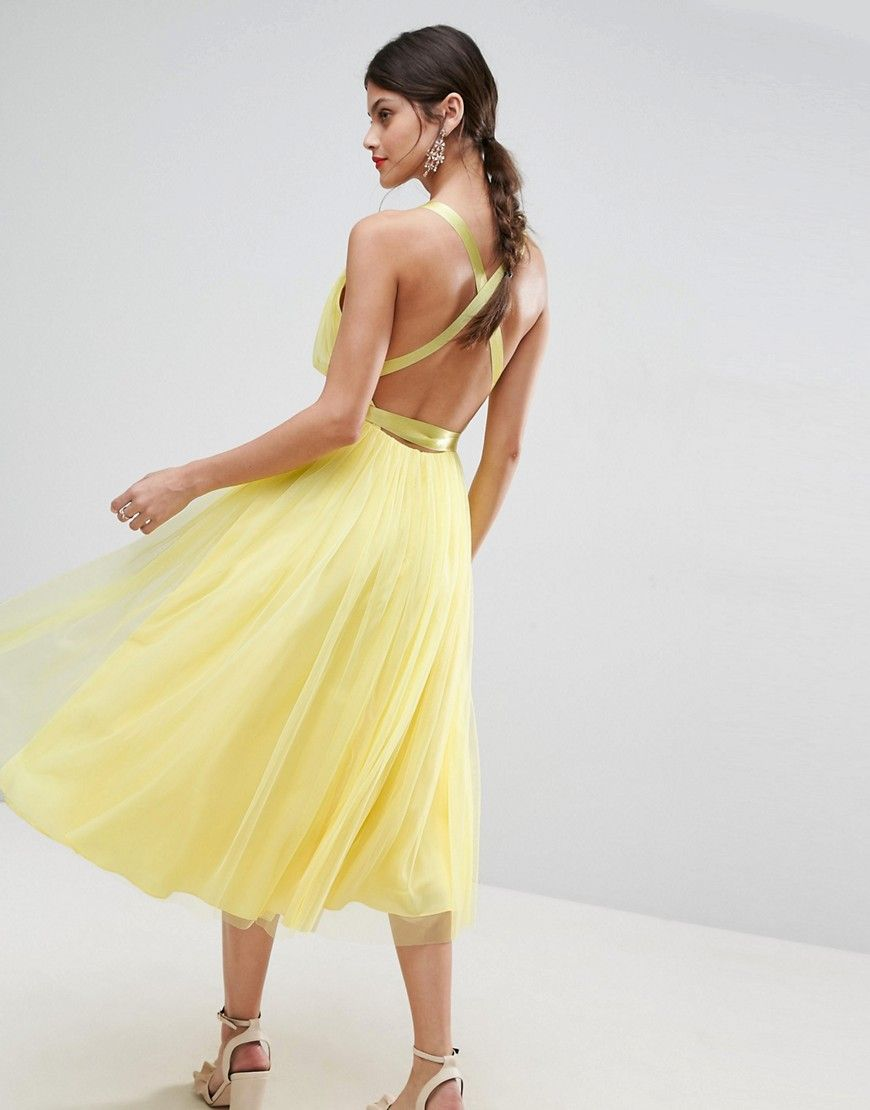 Yellow Ribbon Prom Dresses