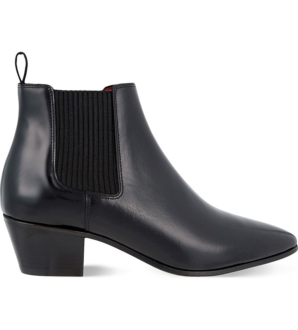Maje Leather Ankle Boots Clearance Big Discount MPQl92k
