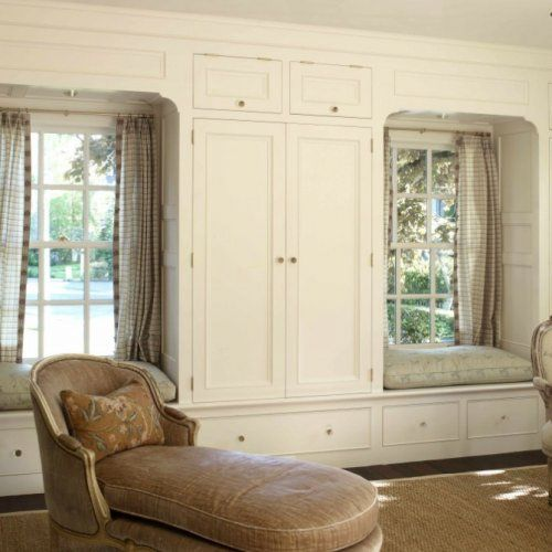 Window Seats With Wardrobe Ws15 Twin Window Seat With Surrounding Wardrobes Bydesign Kitchens Bedroom Built Ins Home Decor Bedroom Bedroom Seating