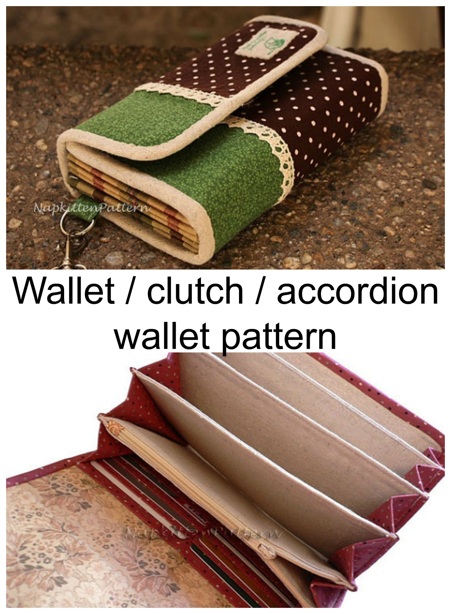 Here\'s a great wallet sewing pattern from Shannon of ...