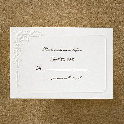 Borders of Calla Lilies - Respond Card and Envelope - Ecru weddingneeds.carlsoncraft.com