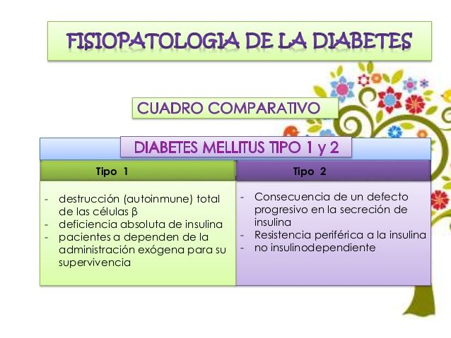 fisiopatología de la diabetes tipo 1 y tipo 2