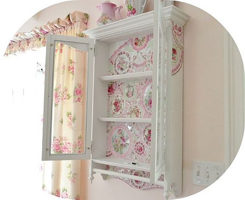Superbe Shabby Glass Doors Mosaic Wall Curio Cabinet Mosaic Cabinet, Glass Doors  Vintage China, Shabby Chic, Pink Roses, Victorian, French Cottage, Pretty  Pink, ...