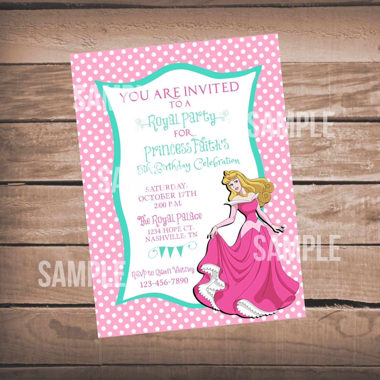 Princess Aurora Birthday Invitation Sleeping Beauty Birthday – Sleeping Beauty Party Invitations